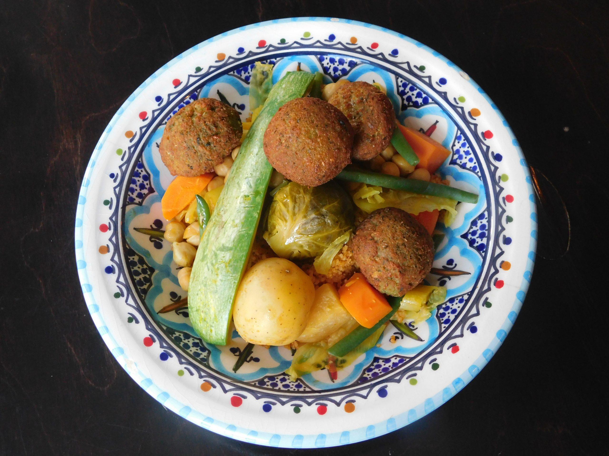 Végétarien avec falafels